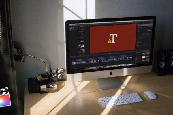 Computer con Final Cut Pro