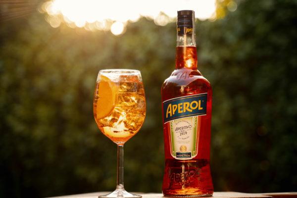 Bottiglia di Aperol con Spritz al Wood San Pietro di Roma